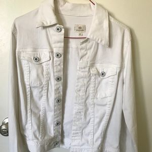 Ag white denim jacket